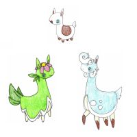 llamas ADOPTED by FrozenFeather