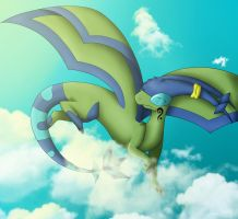 Soaring Through the Clouds by Flygon017