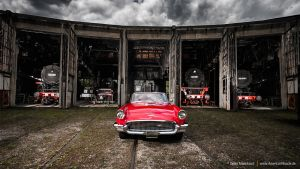 57 T-Bird and Steam locomotives by AmericanMuscle