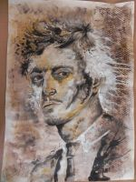 Orlando Bloom Abstract Portrait by OrhideArt