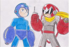 Megaman and Protoman by dreamcastzx