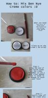 Tutorial: Mixing Ben Nye Creme Colors by JojoPandaFace