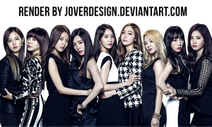 SNSD 'THE BEST' album cover PNG 2 by Jover-Design