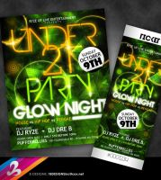 UNDER 21 Glow Night Flyer by AnotherBcreation