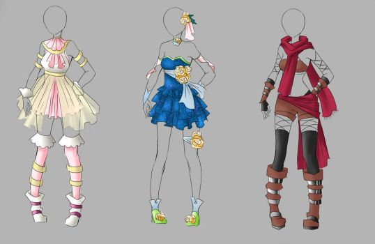 Outfit Adoptable Batch 1 [CLOSED] by Artemis-adopties