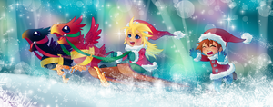 Jingle through the snow by Sakuyamon