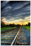 Railroad Tracks by BurningEagle