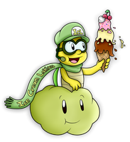 AT with IceCreamLink: The Ice Cream and the Lakitu by SuperLakitu
