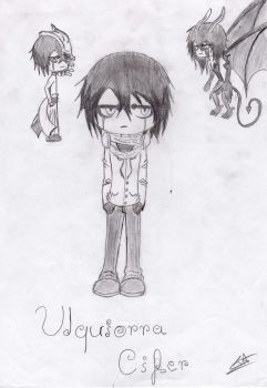 Sketch Time-2 'Ulquiorra' by FunnyScared