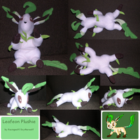 Mini Leafeon Plushie by racingwolf