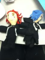 Axel and Zexion plush by AshleyFluttershy