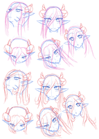 Nagala Misara Head PosesSketch by Doom-san