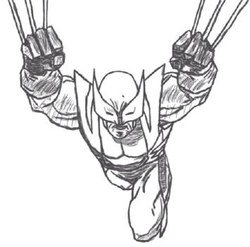 Wolverine: Jumptoss grey and white by yveld
