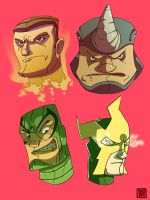 Marvel Heads 2 by CheungKinMen