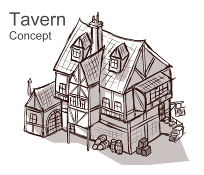 Tavern Concept by Sun-Dragoness