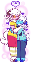 a couple of gay sheep by Aruesso