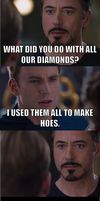 Never waste your diamonds on a hoe by onyxcarmine