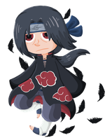 Itachi on Feathers by SaraRazayzay