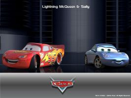 Lightning McQueen and Sally by Darwey