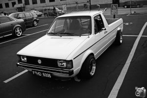 White VW Caddy by QuicksilverFX