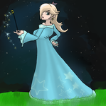 Rosalina and the night sky by j3-proto