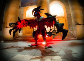 Yveltal arrives at Connichi by FlameTorchic