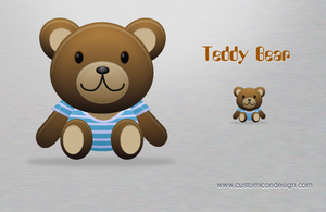 teddy bear by customicondesign