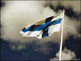 Finnish Flag by Pipari0