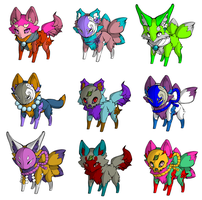 Fox Adoptables CLOSED by Ety-Adopts