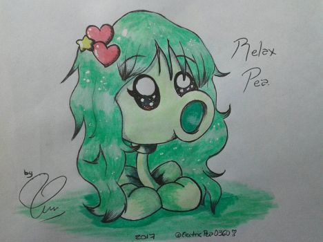 Relax Pea drawing by ElectricPea0360