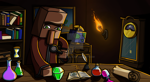 Villager in his Study by GoldSolace