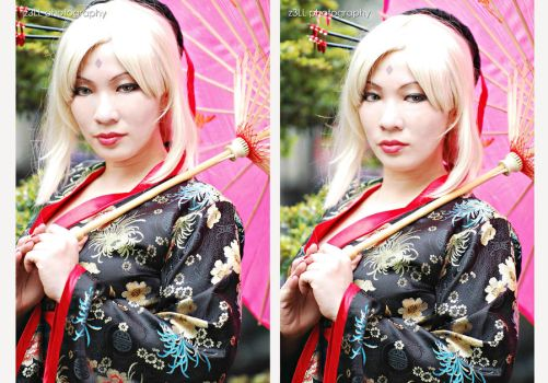 Geisha Tsunade And Her Stare by chenmeicai