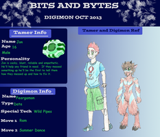 Bits and Bytes OCT Application - Jon and Feargamon by TheRaven-King