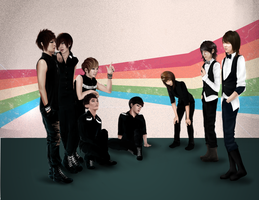 :U-Kiss vs. Choshinsung: Commission: by punkaspazer