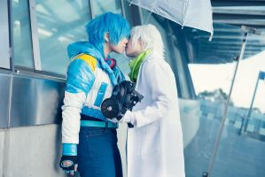 DRAMAtical Murder - Clear and Aoba by Saabon