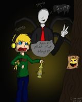 Slendy and pewdiepie by Lonewolf23pro