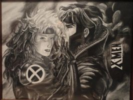 Rogue and Gambit by Sisk8508