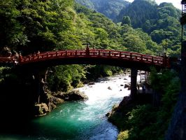 Shinkyo Sacred Bridge - Japan by Mevneriel