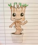 Dancing baby Groot by WhiteLillyDragonfly
