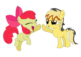 Apple Bloom and Zaps Apple family picture by NawakiCZ