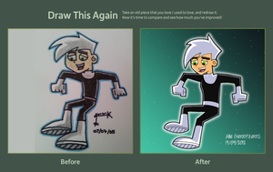 Draw This Again: Danny Phantom by HeroOfZeros
