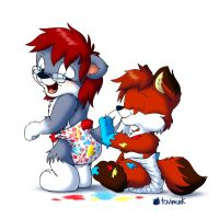Diaper Painting by Tavi-Munk