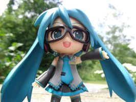 Miku with glasses 2 by LowlyWorm