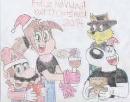 Merry Christmas 2014!! by PrincessPuccadomiNyo
