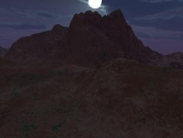 night moon scene terragen by gchj555