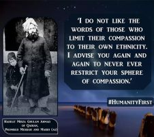 Humanity and Compassion by AhmadiMuslim