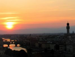 Florence Sunset No1 by Andrew-and-Seven