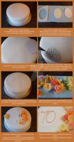 Tutoral - 70th Cake decoration by ginas-cakes