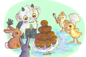 Muffin Party by Friendlyfoxpal