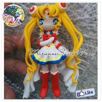 Super Sailor Moon Pendant handmade polymer clay by DarkettinaMarienne